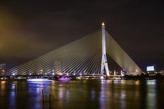 Brücke Rama 8 in Bangkok Stockbild