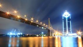 Brücke Rama 9 in Bangkok, Thailand Lizenzfreies Stockbild
