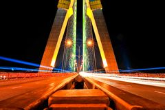 Brücke Rama VIII in Bangkok, Thailand Stockbilder
