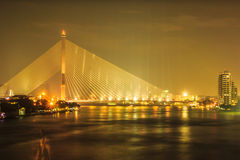 Brücke Rama VIII in Bangkok, Thailand Lizenzfreies Stockbild
