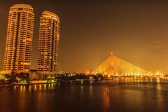 Brücke Rama VIII in Bangkok, Thailand Lizenzfreies Stockfoto
