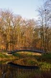 Brücke reflektiert im Wasser in einem Park Stockbilder