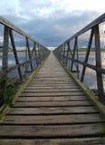 Brücke in Richtung zu Oststrand Lossiemouth Lizenzfreies Stockfoto