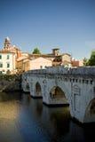 Brücke in Rimini Stockfotos