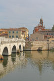 Brücke in Rimini, Italien Stockfotos