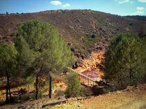 Brücke - Riotinto-Bergwerk Stockfoto