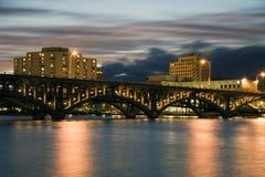 Brücke in Rockford lizenzfreies stockfoto