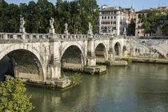 Brücke in Rom Stockbild