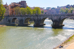 Brücke in Rom, Italien Stockbilder
