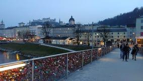 Brücke in Salzburg Stockfoto