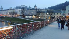Brücke in Salzburg Stockbilder