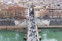 Brücke Sant Angelo Stockbild