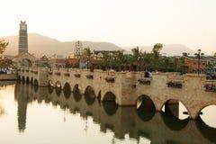 Brücke Santorini in Thailand Lizenzfreies Stockbild
