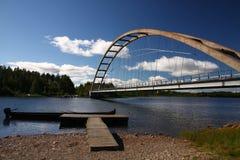 Brücke in Schweden Stockbild