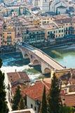 Brücke Str.-Peter, Verona, Italien. Lizenzfreies Stockbild