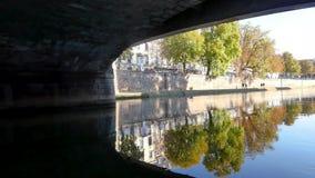 Brücke in Straßburg stock footage