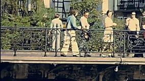 Brücke Straßburgs Sainte-Madeleine stock footage