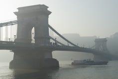 Brücke Szechenyi Budapest Lizenzfreie Stockfotografie