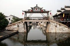 Brücke in Tongli China Lizenzfreies Stockbild