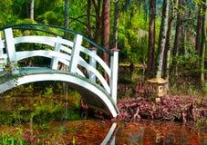 Brücke und asiatische japanische Tempel-Pagode Lizenzfreies Stockfoto