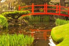 Brücke und Bonsais Stockbild