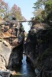 Brücke und Himmel Stockbild