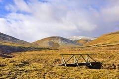 Brücke und Landschaft Stockfotografie