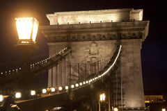 Brücke und Laterne Lizenzfreies Stockbild