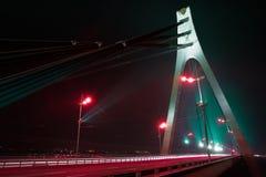Brücke und Nacht Lizenzfreies Stockbild