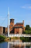 Brücke und Seidenspinnerei, Derby stockfoto