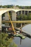 Brücke unter Rekonstruktion Lizenzfreie Stockbilder