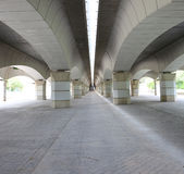 Brücke Valencias Jardà Del Túria stockbilder