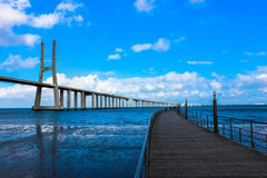 Brücke Vasco da Game Lizenzfreie Stockfotos