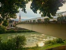 Brücke in Villach Stockfotos