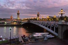 Brücke von Alexandre III, Paris, Frankreich lizenzfreie stockbilder