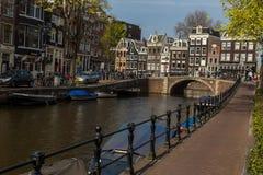 Brücke von Amsterdam Stockbild
