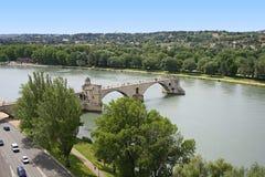 Brücke von Avignon Stockbilder