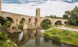 Brücke von Besalu Stockbild