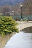 Brücke von Blumen, Shelburne, Masse, im April 2014 Stockfotografie