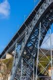 Brücke von Dom Luiz in Porto, Portugal Lizenzfreie Stockfotos
