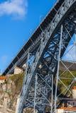 Brücke von Dom Luiz in Porto, Portugal Lizenzfreie Stockbilder