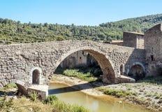 Brücke von Lagrasse Lizenzfreies Stockbild