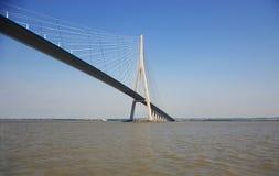 Brücke von Normandie stockbilder