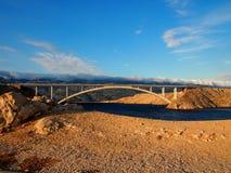 Brücke von PAG Stockbild