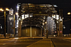 Brücke von Peter das große (Bolsheokhtinsky) Lizenzfreie Stockfotos