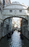 Brücke von Seufzern, Venedig Stockfotos