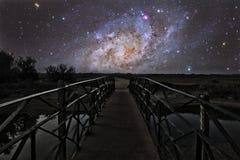 Brücke zu den Sternen Lizenzfreie Stockbilder