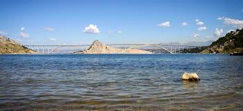 Brücke zu Krk-Insel, Kroatien Lizenzfreies Stockfoto