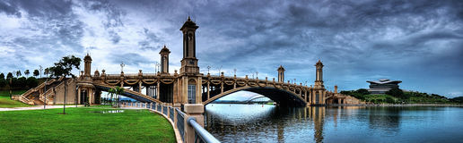Brücke zu PICC, Putrajaya stockbild