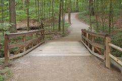 Brücke zum Holz Lizenzfreie Stockfotografie
